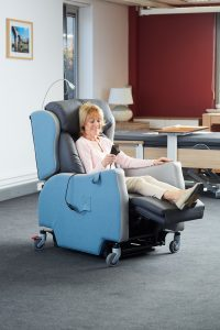 Rise & Recline chairs can provide comfort for residents in communal areas of a care home