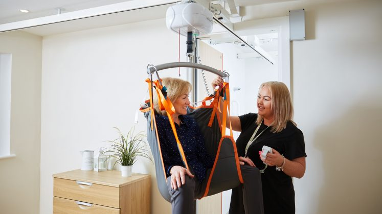 Ceiling track hoist system for care homes, hospices, hospitals and domestic use